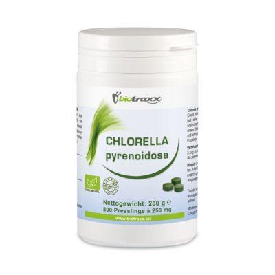 Biotraxx Chlorella pyrenoidosa 200g – 800 Tabletten, je 250 mg