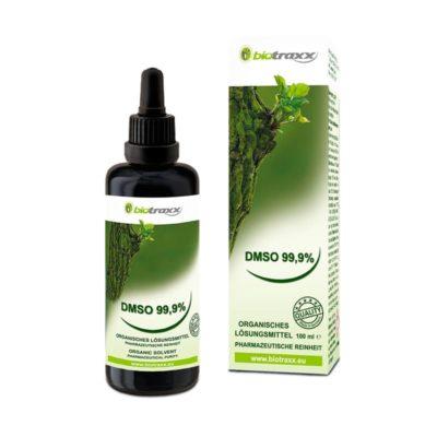 Biotraxx DMSO organisches Lösungsmittel 99.9%, 100 ml – Violettglas mit Pipette