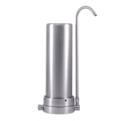 AQUA AVANTI Design Wasserfiltergehäuse Mercuro aus gebürstetem Edelstahl