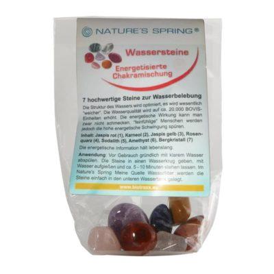 Wassersteine-Set Chakramischung energetisiert 7 Steine