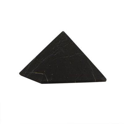 Schungit Pyramide klein: 5x5cm, Shungit aus Rußland
